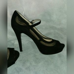 Black Velvet Nine West Heels, 7.5